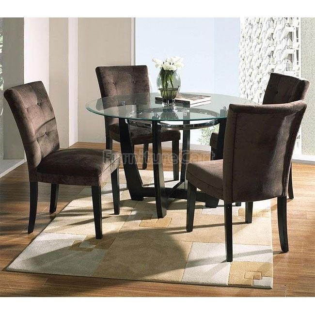 Matinee Round Dinette w/ Chocolate Chairs in 2020 (With images)   Dining table, Dining room sets ...