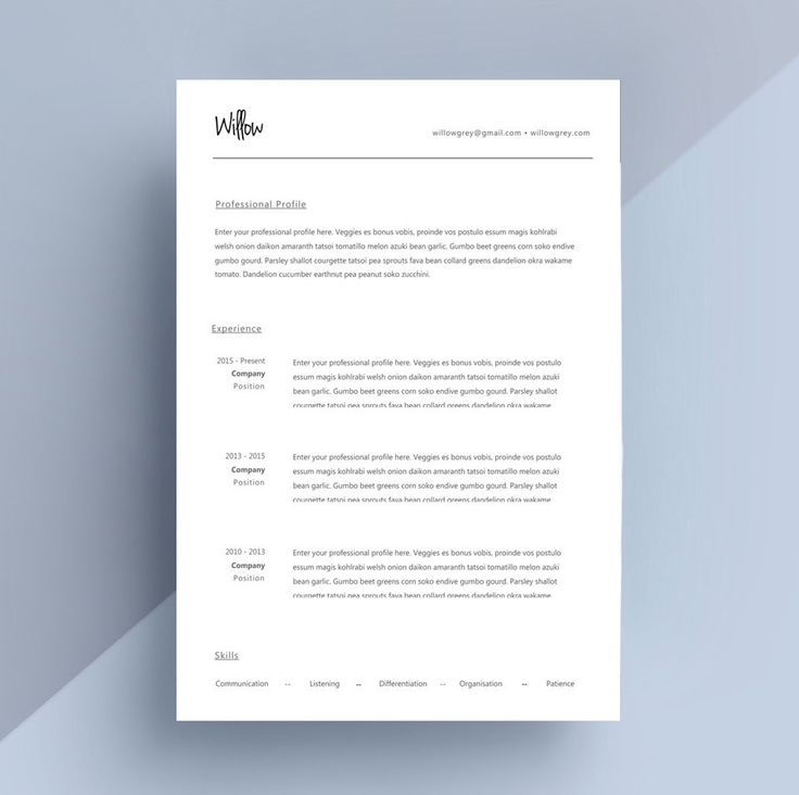 Creative Resume Template Cover Letter CV Template