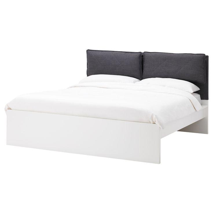 Malm Bezuge Fur Kopfteil 2 Kissen Skiftebo Dunkelgrau Ikea Osterreich Malm Kallax Regal Weiss Kopfteil Bett