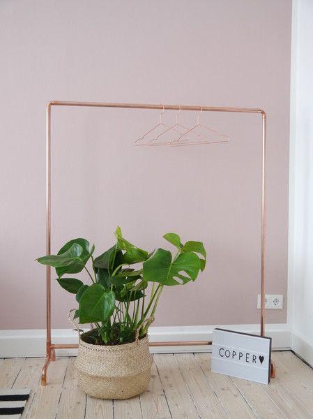 Garderoben - Kupfer Kleiderständer Industriedesign Copper  - ein Designerstück von Krustelkiste bei DaWanda