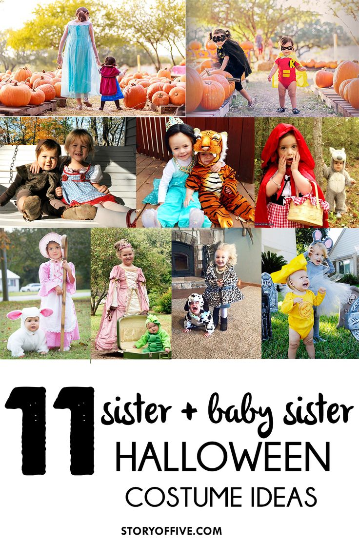 11 Sister-baby sister Sibling Halloween Costume Ideas