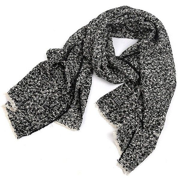 Yoins Black Oversized Scarf ($18) ❤ liked on Polyvore featuring accessories, scarves, yoins, black, scarves & shawls, wrap shawl, oversized knit scarves, shawl scarves, knit shawl and knit scarves