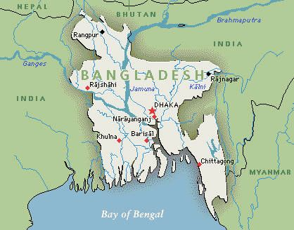 Bangladesh /ˈbɑːŋlədɛʃ/; Listeni/ˌbæŋɡləˈdɛʃ/ (Bengali: বাংলাদেশ, pronounced: [ˈbaŋlad̪eʃ] ( listen)), officially the People's Republic of Bangladesh (Bengali: গণপ্রজাতন্ত্রী বাংলাদেশ Gônôprôjatôntri Bangladesh), is a country in South Asia, located on the fertile Bengal delta. The borders of modern Bangladesh took shape during the Partition of Bengal and British India in 1947, when the region became the eastern wing of the newly formed state of Pakistan.