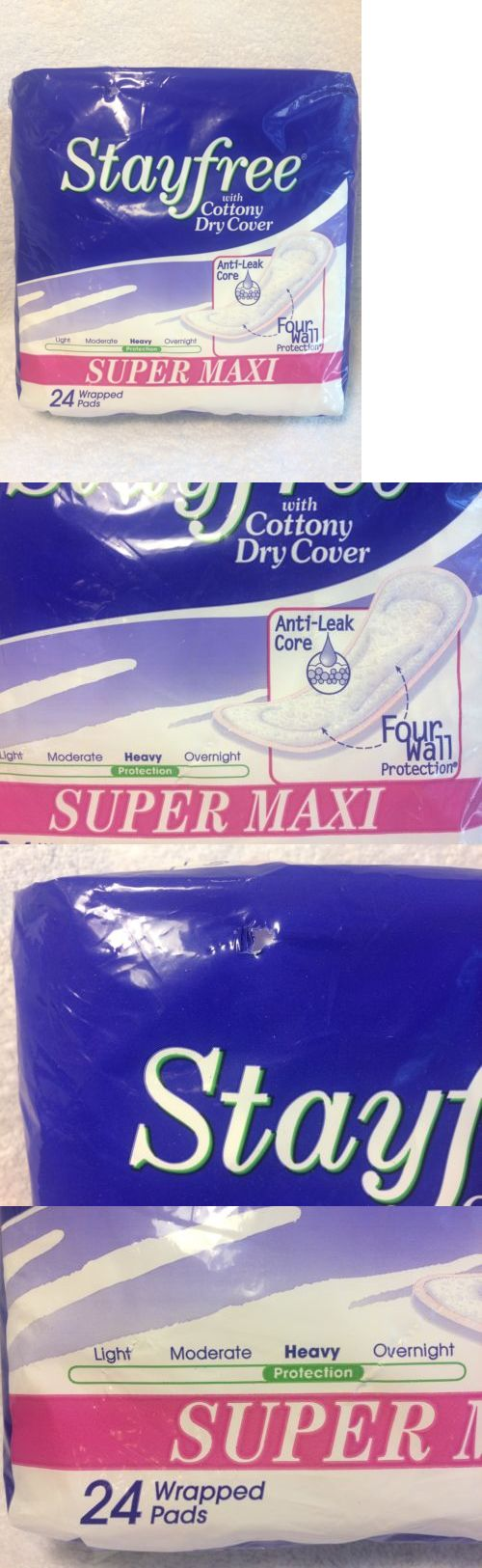 Sanitary Napkins: Stayfree Super Maxi Pads New Vintage 24 Pack Sanitary Napkins 2001 Prop -> BUY IT NOW ONLY: $49.99 on eBay!