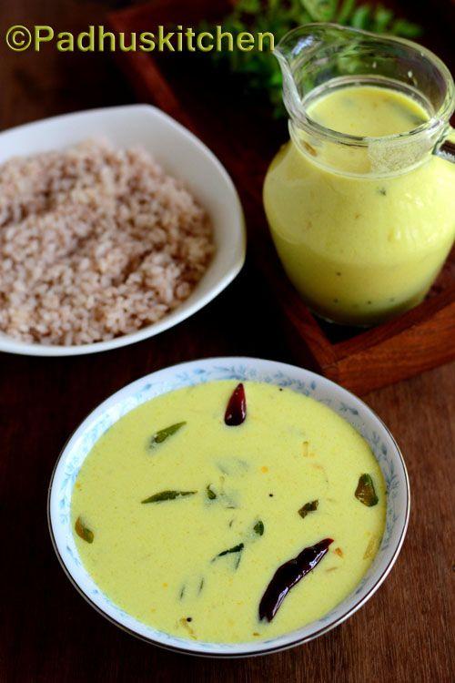 Padhuskitchen: Moru Curry-Moru Kachiyathu-Seasoned Buttermilk Rec...