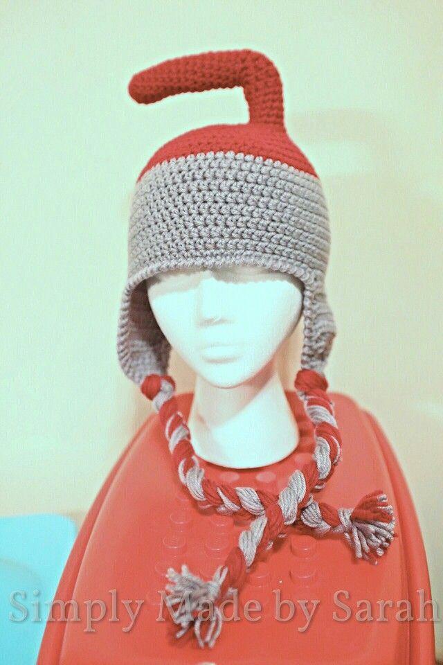 Curling rock crochet hat.