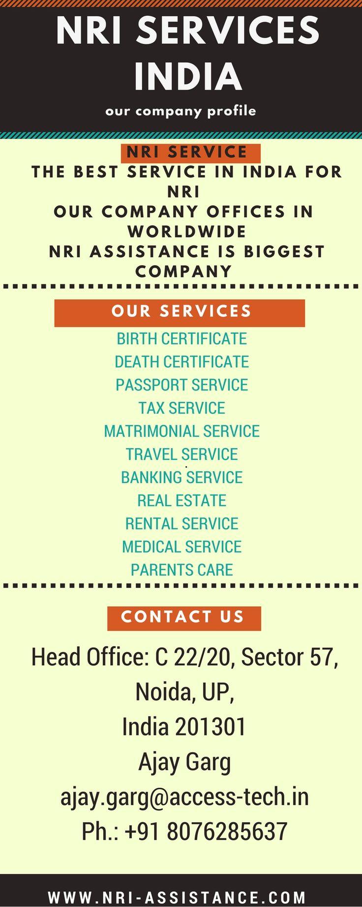 Nri Service In India, Birth Certificate, Tax Service, And Passport Service