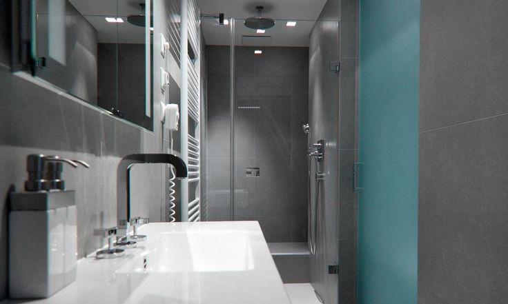 Bad Interior-Design in der kleinen slowakischen Wohnung verbessert mit LED Beleuchtung von vorgestellt Rudolf Lesňák