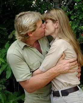 Steve & Terri Irwin - he was taken too soon.  Way too soon :(
