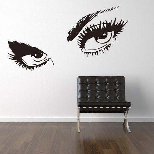 Wallstickers med nogle smukke øjne - Få dem i mange forskellige farver
