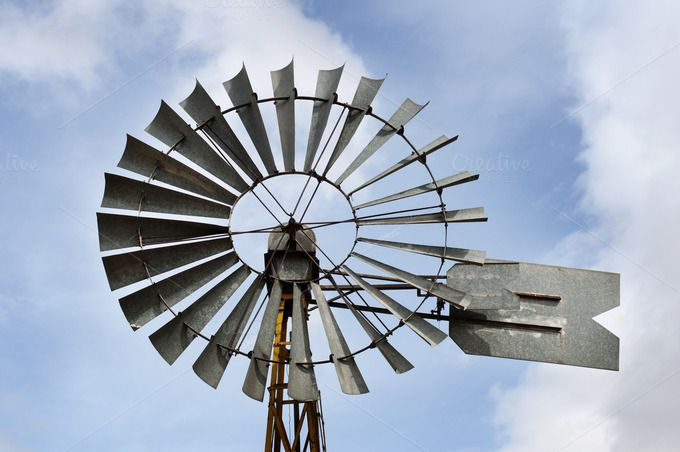 Check out Old windmill by Deyan Georgiev  on Creative Market