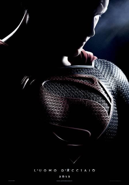 L'Uomo d'Acciaio - Il teaser poster italiano di Man of Steel diretto da Zack Snyder con Henry Cavill #Superman