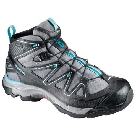 The Salomon X Tiana Mid boot is agile and cushioned like a running shoe, with stability and support of a mid-cut hiking shoe, waterproof for year-round adventure. Fitted with an Ortholite innersole, molded EVA midsole and Contagrip outsoles for comfort and durability for an terrain.