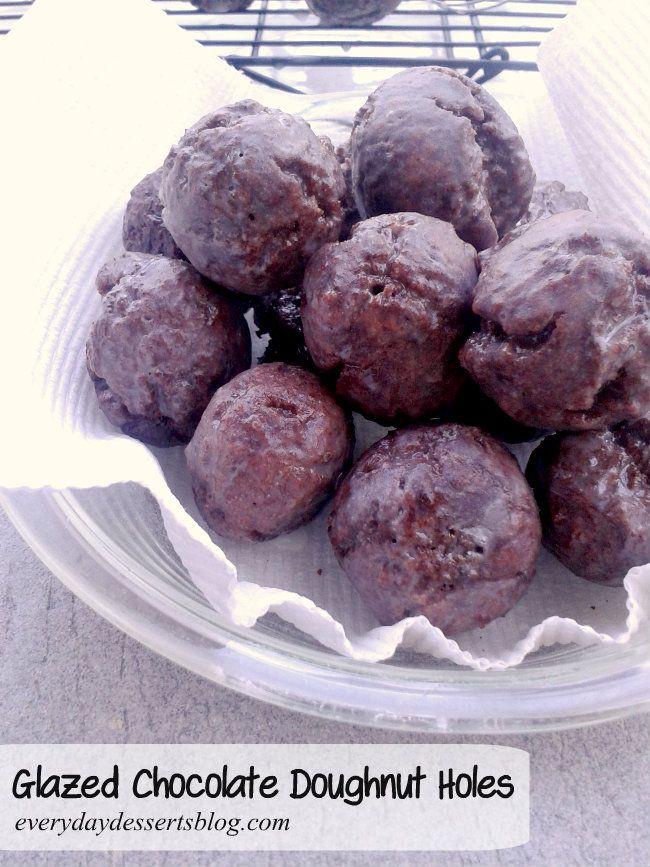 Everyday Desserts: Glazed Chocolate Doughnut Holes