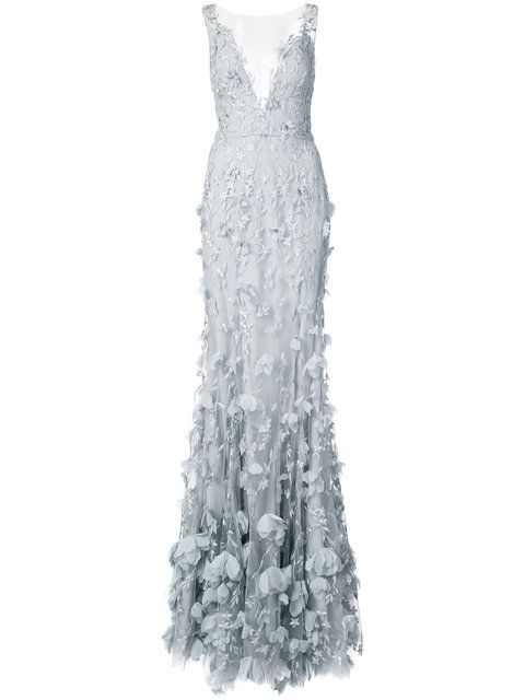 10b670a4 Shop Marchesa Notte 3D floral plunge gown. | Ball gowns and dresses ...