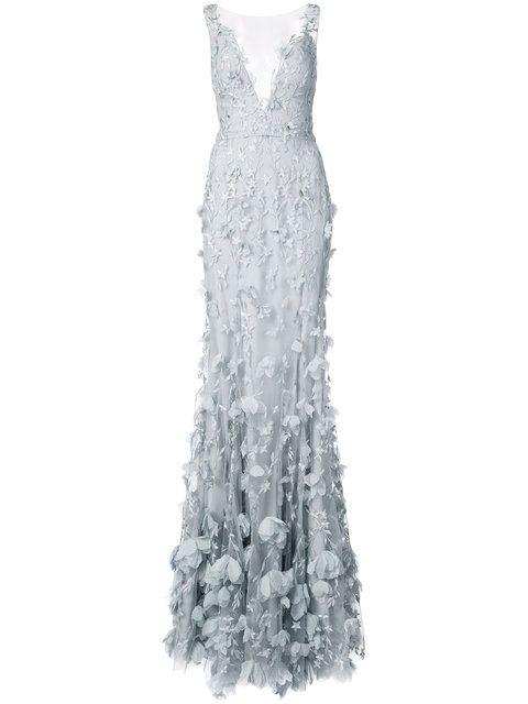 c0d90b36 Shop Marchesa Notte 3D floral plunge gown. | Ball gowns and dresses ...