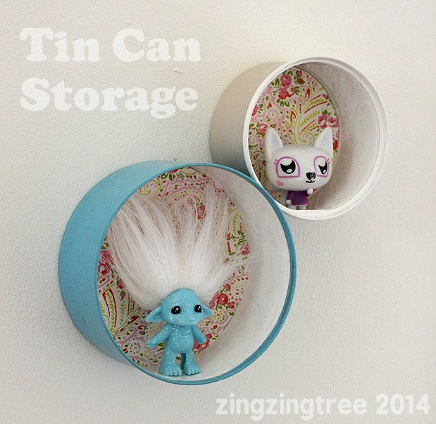 Recycled Tin Can Shelves - Tin Can Craft