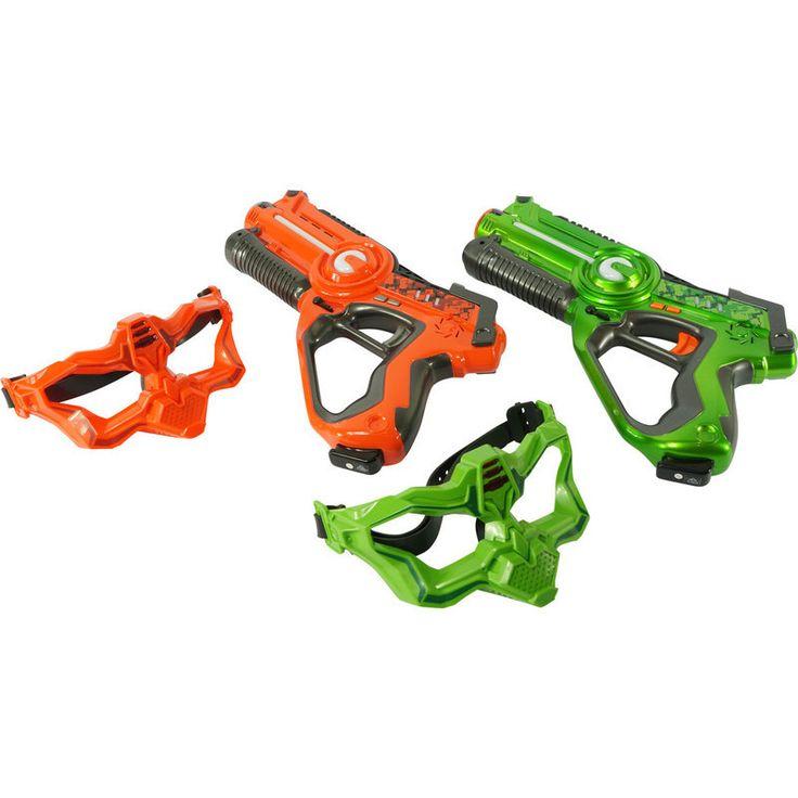 2 Player Laser Tag Gun Set W Masks Orange Amp Green Buy