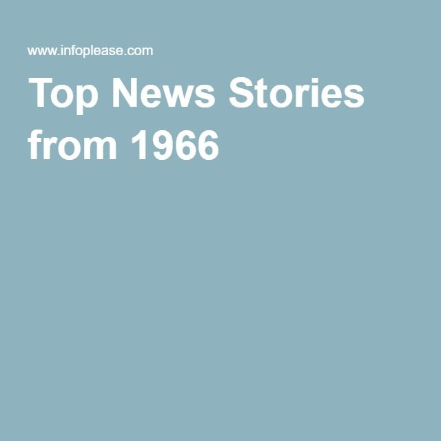 Top News Stories from 1966