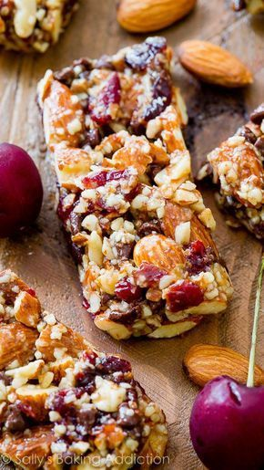 Chocolate Cherry Almond Snack Bars - Grain-free healthy goodness! These are SO simple!
