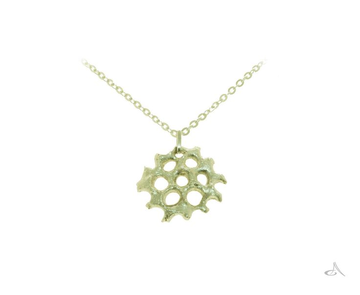 A sterling silver pendant I named summer snowflake