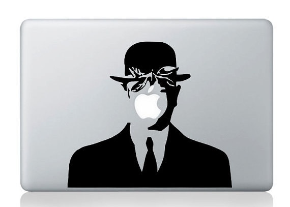 Magritte mac decal macbook decals macbook stickers macbook pro decals macbook air decals vinyl decal for apple mac ipad iphone