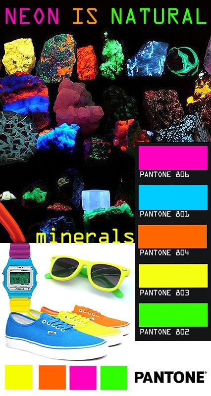 Image detail for -Yes it's really true, fluorescent colours, like Pantone Plus Neons ...: