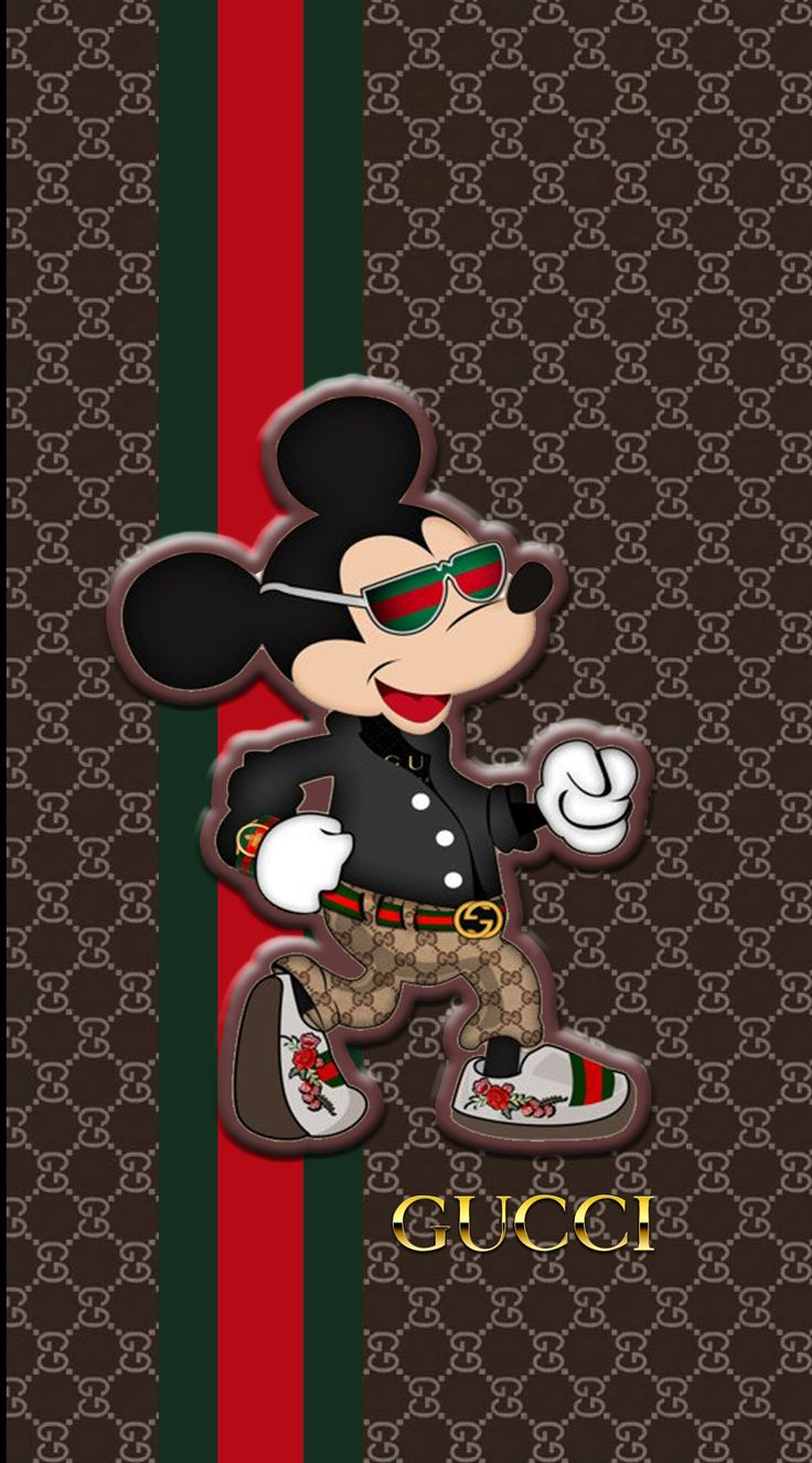 Gucci Pattern Mickey Mickey mouse wallpaper, Mickey