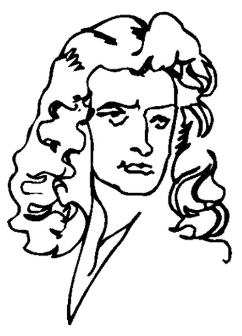 Face Cartoon Isaac Newton Coloring Page | Coloring pages ...