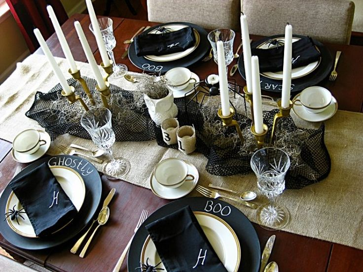 20 halloween themed table setting ideas