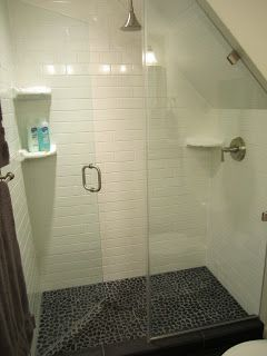 Shower under the stairs in the basement?