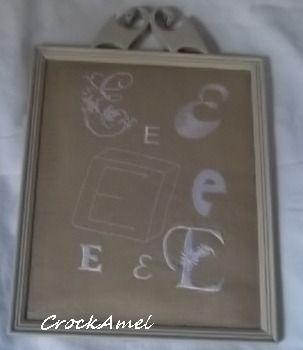 Monogramme collection de E beige : Décorations murales par crockamel