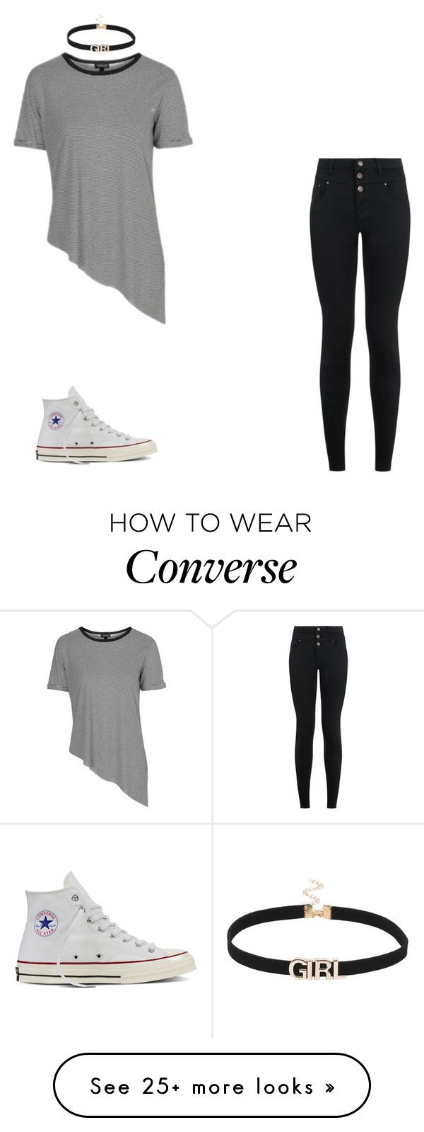 """""""Untitled #2515"""" by carson729 on Polyvore featuring Topshop, New Look and Converse"""
