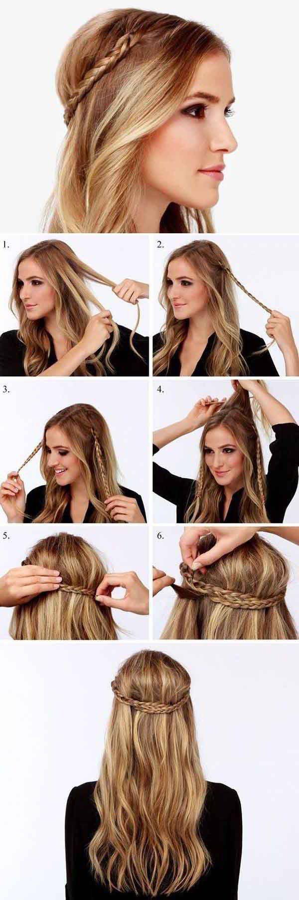 peinados con trenzas paso a paso - Buscar con Google #peinadosfaciles