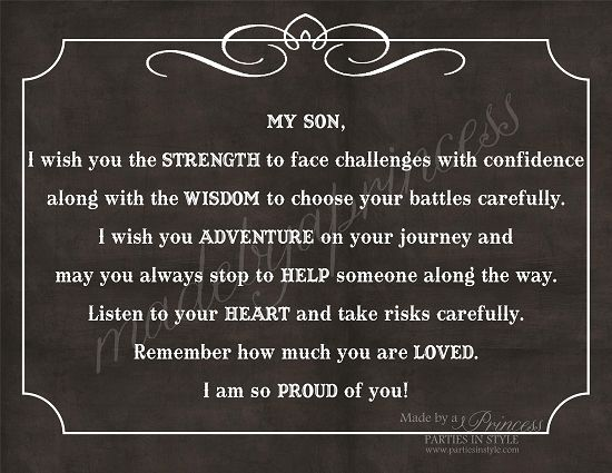 Quotes About Your Son   My Son, I Wish You Strength, Wisdom, & Adventure Strong Inspirational ...