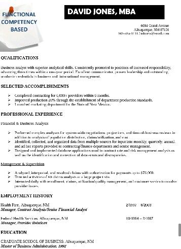 USA Jobs functional resume