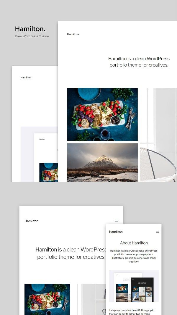 Hamilton A Free Wordpress Portfolio Theme For Creatives Free Wordpress Theme Wordpress