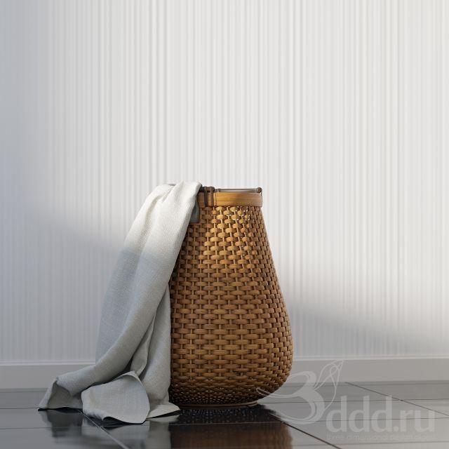 """""""PROFI"""" Корзина для белья 3dsMax 2012 + obj (Vray) : Декор для санузла : Файлы : 3D модели, уроки, текстуры, 3d max, Vray"""