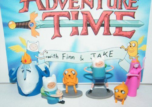 Adventure Time Cartoon Network Mini Figure Toy Set Playset with Finn Jake Ice King and More! @ niftywarehouse.com #NiftyWarehouse #AdventureTime #TVShow #Cartoon #Show #CartoonNetwork
