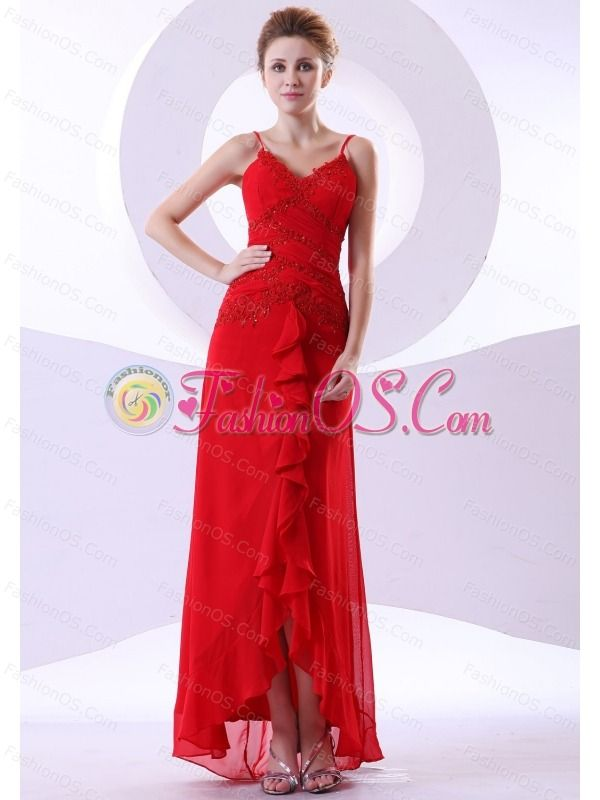 Beading Decorate Bodice Straps Red Chiffon Ankle-length 2013 Prom Dress- $173.26  www.fashionos.com  how to find my dama dress | 2013 spring junior prom holiday dresses | where to get perfect cocktail dresses | latest cocktail dresses | pretty homecoming dress | 2013 maid of honor dresses mall | belle night club dresses | best websites for bridesmaid dresses | ruched gorgeous evening dresses for debutante balls | graduation dresses rentals |
