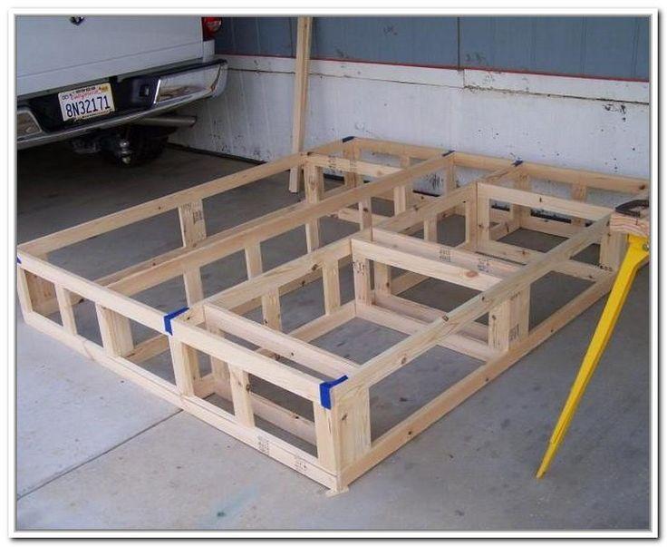 Diy King Size Bed Frame With Storage Bed Frame Plans