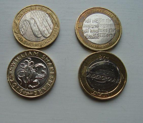 £2 coins x 4 King James Bible  William Shakespeare DNA  Underground Roundel £16.99 or Best Offer Ebay Uk Item Number 362163393011