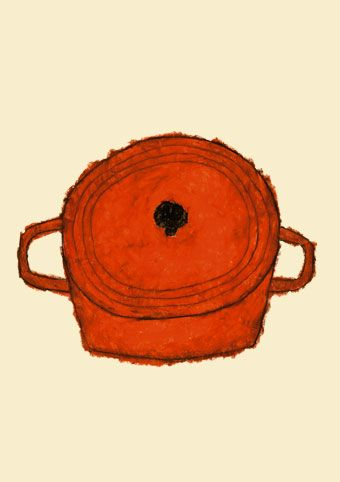 Love to cook; especially in my lovely Le Creuset.      Illustrated by Yusuke Yonezu. #perskinality