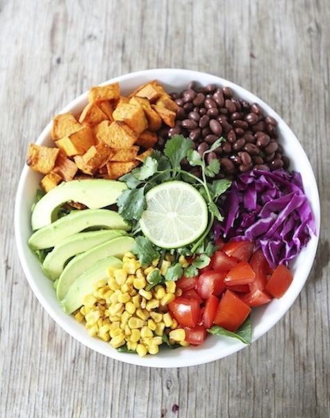 Sweet Potato and Black Bean Mexican Salad Recipe