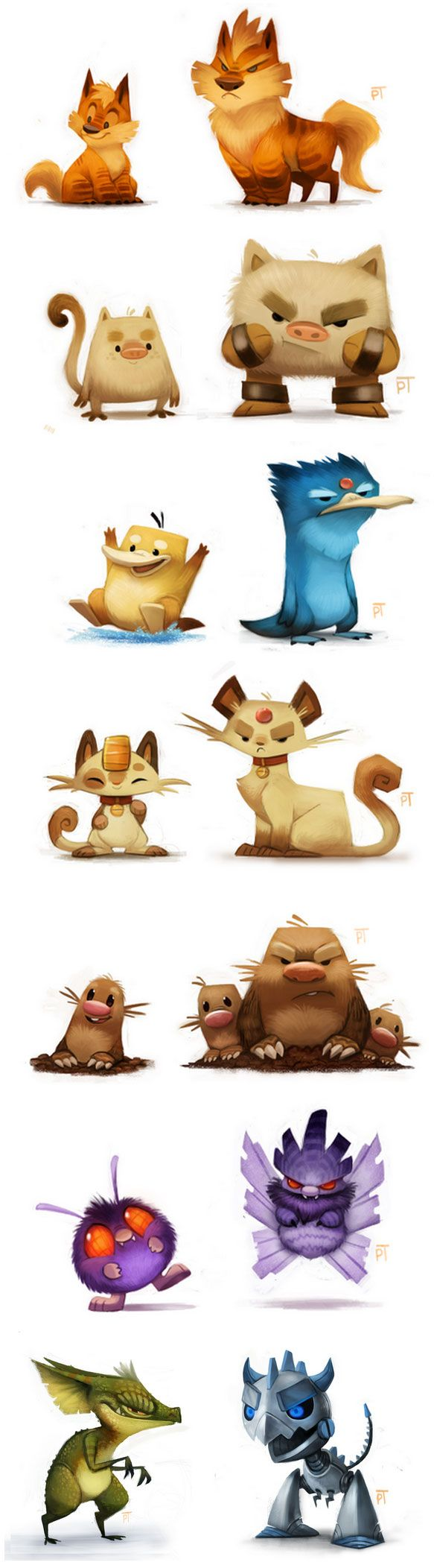 Cartoon Characters Ideas : More awesome creature and monster character designs by