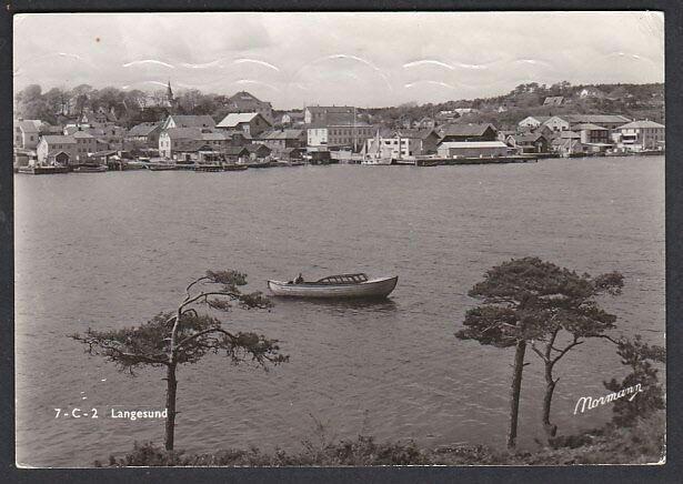 Telemark fylke Bamble kommune  Langesund. Utg Normann brukt 1952