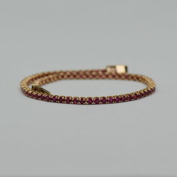 Bratara de aur roz cu rubine #bratariaurroz #bratararubine #rubine #rubybracelets #ruby