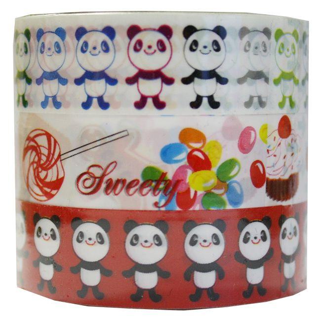 3 x tape - panda & sweets