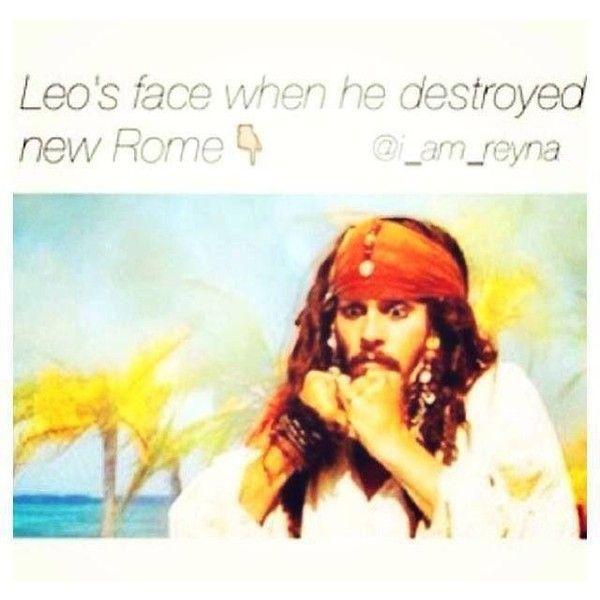A cara de Leo quando ele destruiu Nova Roma: