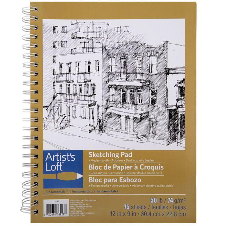 "Artist's Loft™ Fundamentals Sketch Pad   9""x12""  for $4.99"